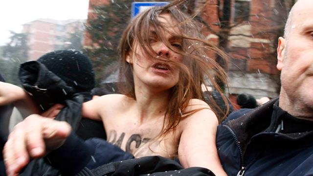 Femen protest Italy